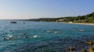 Swimming Crossing of Toroneo